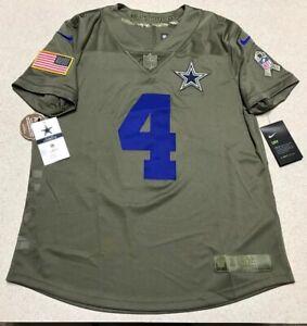 pretty nice 53895 23a51 Details about Women's Nike Dallas Cowboys Dak Prescott Salute to Service  Jersey Size Medium