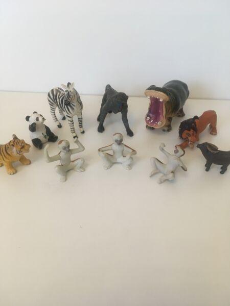 10 Mini Wild/zoo/safari Animali Giocattolo-i Toy Animals Ulteriori Sorprese