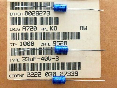 100 Piece Furniture Philips Axial 33uF 40V 2222 030 27339
