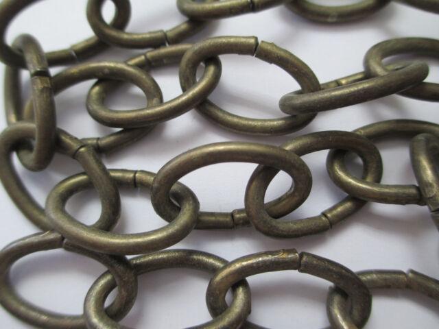 Vintage Antique Chandelier Chain Sturdy Petite Bronze Steel Oval 18 - Vintage Antique Chandelier Chain Sturdy Petite Bronze Steel Oval 18