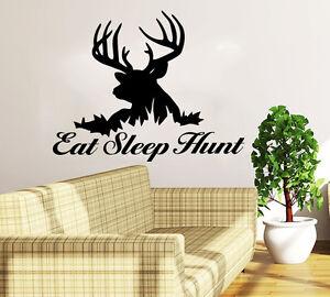 Image Is Loading Deer Hunting Wall Decal Quote Eat Sleep Hunt