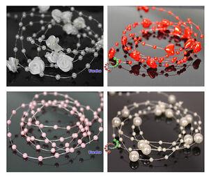 Sonstige Kreatives Gestalten Perlen Dekoperlen Perlenkette Tischdeko Hochzeit Floristik Deko Weiss