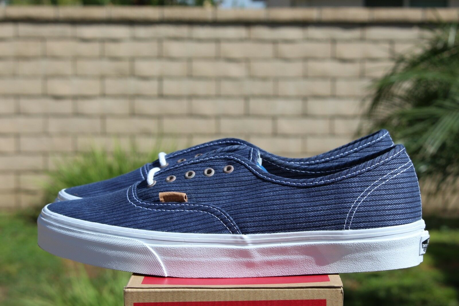 VANS AUTHENTIC CA SZ 11.5 WASHED HERRINGBONE blueE OFF THE WALL OTW VN 0ZUIFQS