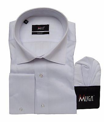 Aggressivo Slim-fit Camicia Manica Lunga Con, Fazzoletto Tg 3xl Bianco-