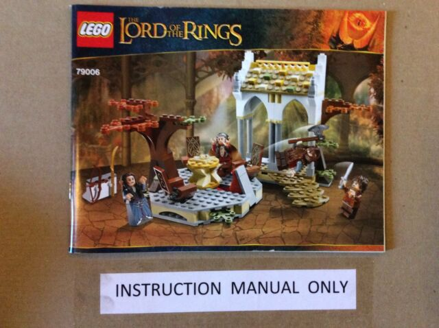 New Lego Instruction Manual Only For Lord Of The Rings Council Of