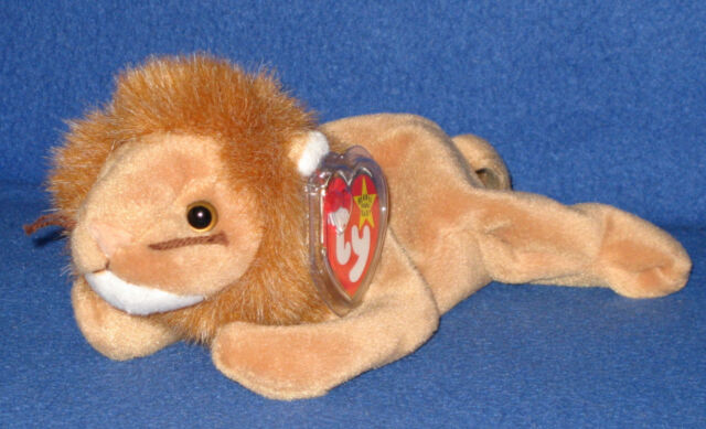 b1e5cc9c039 Ty Beanie Baby Roary 1996 5th Generation 2 Hang Tag Errors Misprints ...
