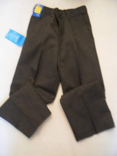 Boys M /& S BNWT Grey pleat front school trousers age 4 /& 11