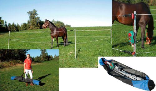 AKO Turnier Paddock Set 7x7m Pferde inkl Weidezaungerät Wanderreitzaun Zaun
