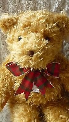"GORGEOUS SUNKID 20"" GOLDEN BEAR TEDDY BEAR BEANIE FEET & BUM TAGGED UNPLAYED"