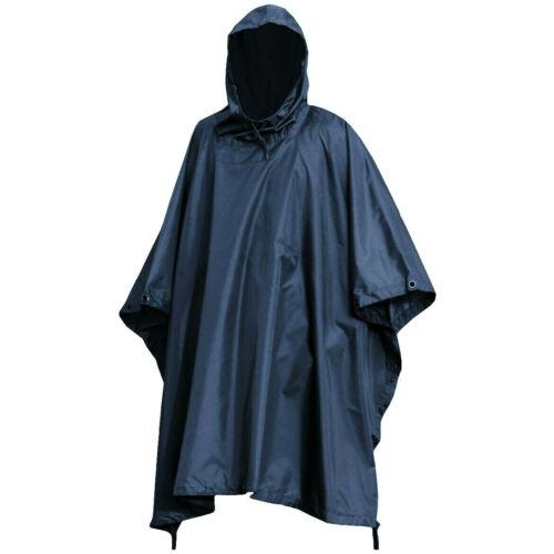 MILITARY PONCHO waterproof windproof Navy blue bivi basha shelter hooded jacket