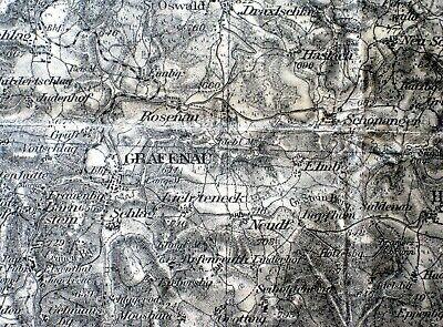 AnpassungsfäHig 599 Grafenau, Karte Des Deutschen Reiches, 1:100.000, Gedruckt 1940 Zahlreich In Vielfalt