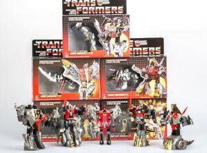 TRANSFORMERS-G1-Reissue-Dinobots-set-Grimlock-Swoop-Slag-Snarl-Sludge-MISB