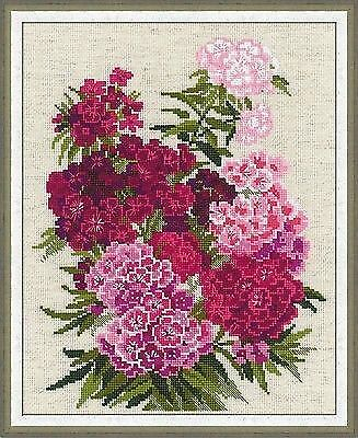SWEET WILLIAM Counted Cross Stitch Kit RIOLIS