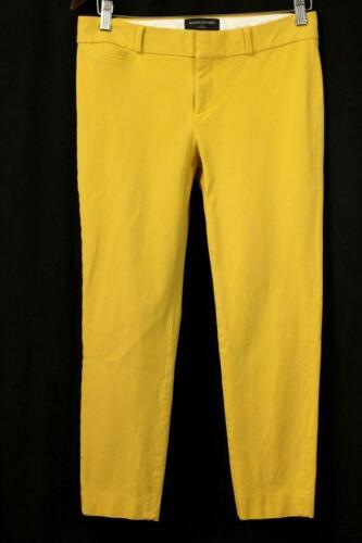 BANANA REPUBLIC Mustard Yellow SLOAN FIT Cropped D