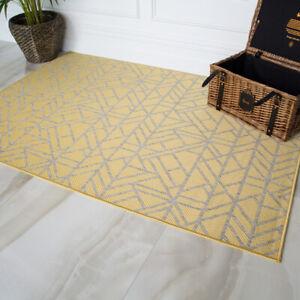 Yellow Washable Moroccan Flatweave Rugs