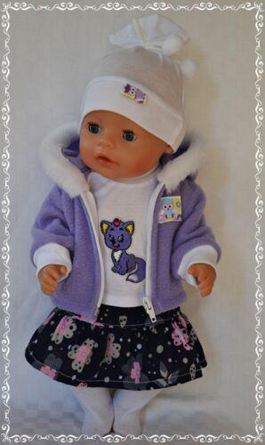 Puppenkleidung 5-tlg Set Rock//Jacke//Strumpfhose  für die Puppe 42-43 cm Neu!