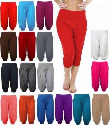 NUOVA linea donna lunghezza 3//4 Alibaba Leggings Donna Taglio Harem Leggings PLUS SIZE 8-24