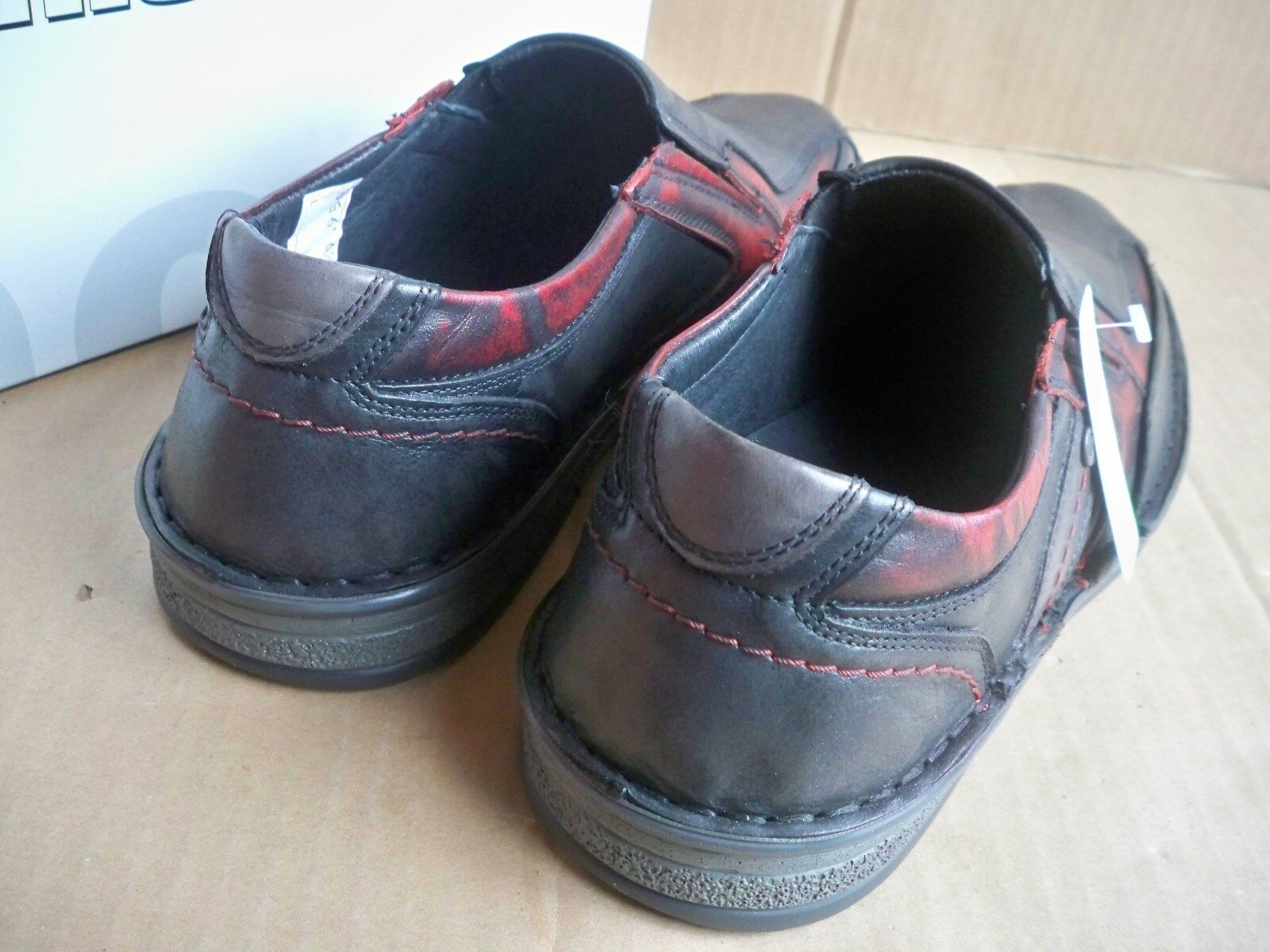 Krisbut-UOMO IN PELLE SLIPPER mezza scarpa ANTRAZIT-rosso senza deposito Taglia 41 4993 Scarpe classiche da uomo