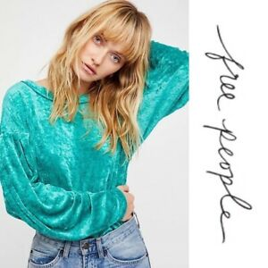 Free-People-Milan-Crushed-Velvet-Layering-Top-Sweater-Pullover-Size-Small