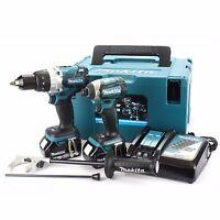 Makita Dlx2176tj Twin Pack High Torque Brushless Combi Drill & Impact Driver Kit