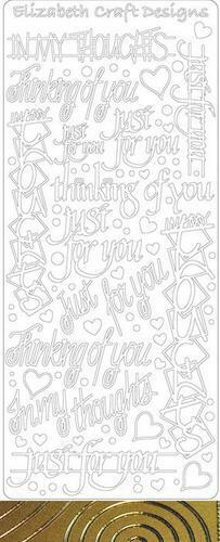 1 sheet Acid Free! assorted PHRASES Starform outline Stickers
