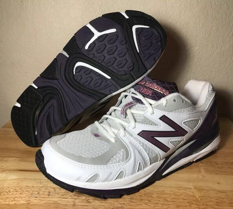 Womens New Balance 1540 Made in USA Running shoes SZ White Purple New (W1540WP1)