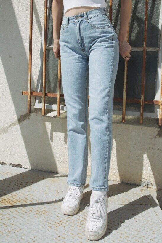Brandy Melville taille haute Danny lumineuses long jeans taille S Neuf avec étiquette