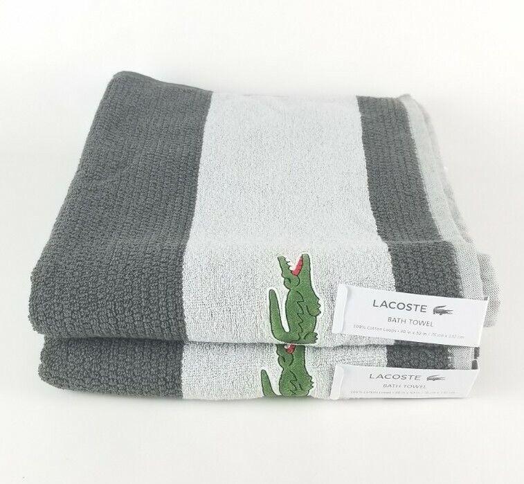 (Lot of 2) Lacoste Bath Towels 30x52