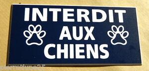 Plaque Gravée Interdit Aux Chiens Format 200 X 98 Mm Finition Biseautée Dzckanl6-07232012-425638884