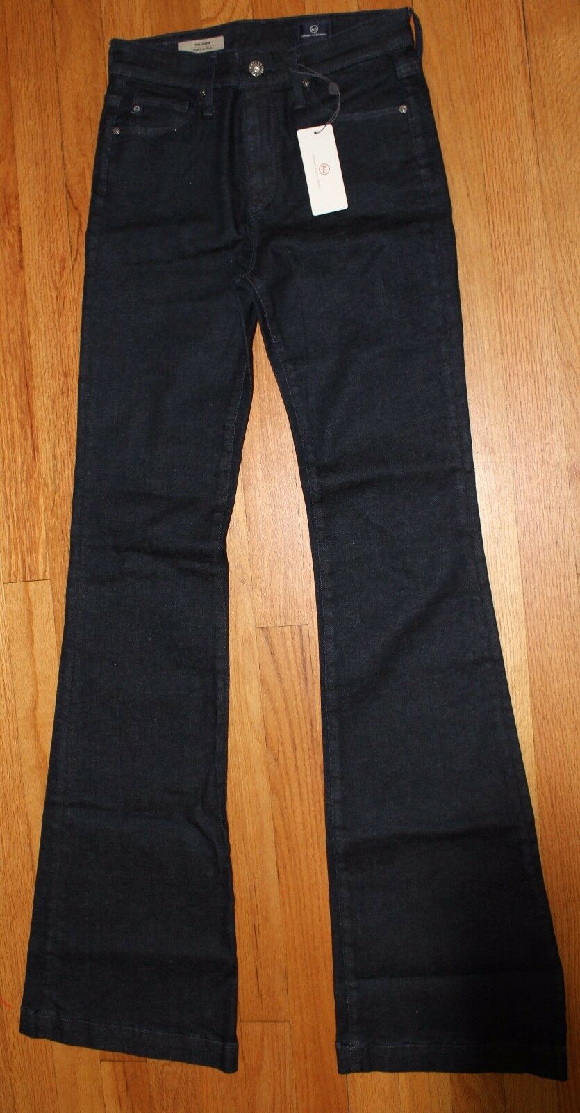 198 AG ADRIANO goldSCHMIED THE JANIS HIGH RISE FLARE JEANS SZ 26