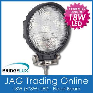 18W LED ROUND FLOOD/WORK LAMP - Driving/Truck/4x4/Caravan/Boat/Cabin/Deck Light