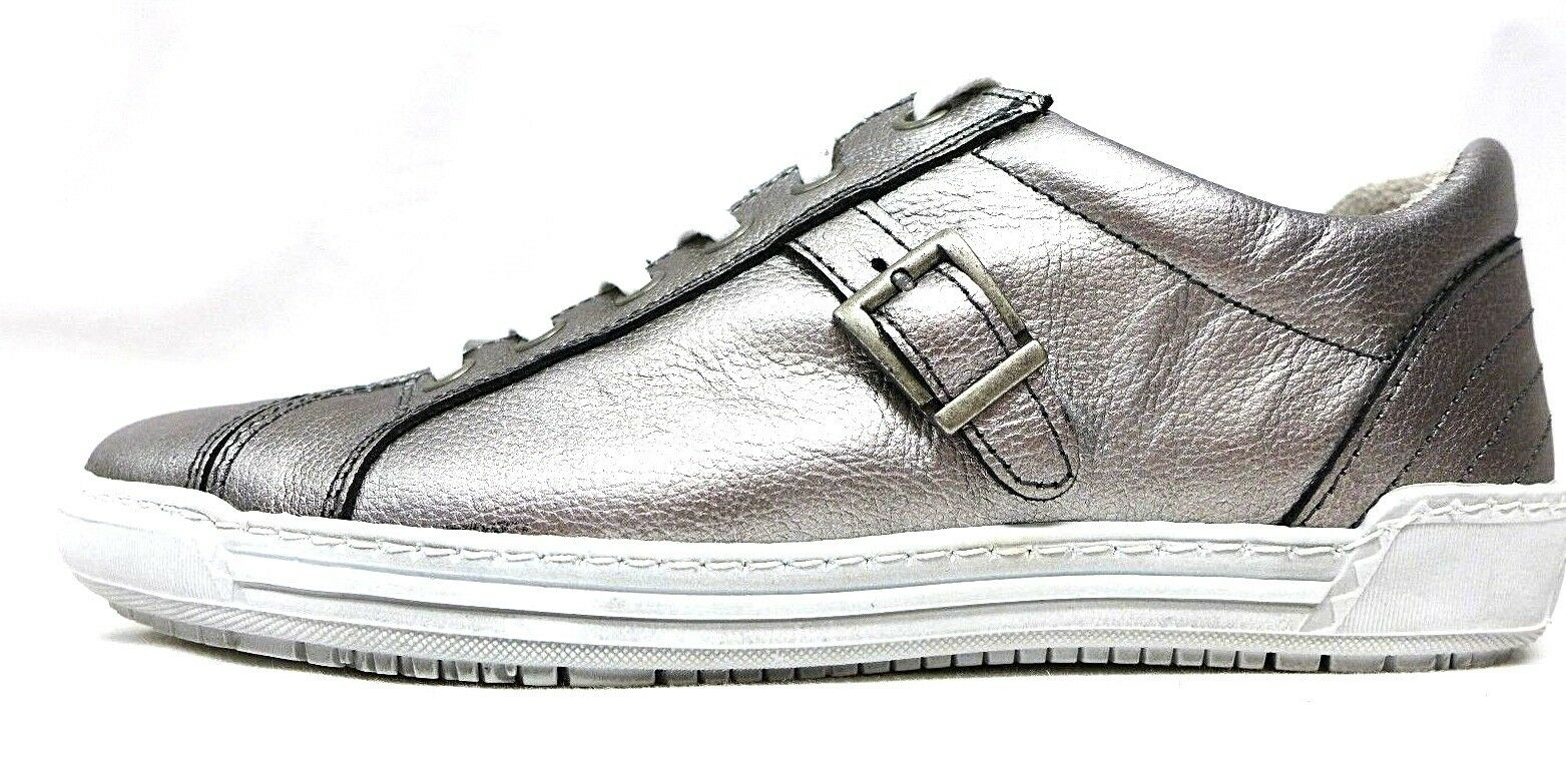 Dyou Womens Sneakers Silver Size 39 40 41 Genuine Leather Loose Insert 53023