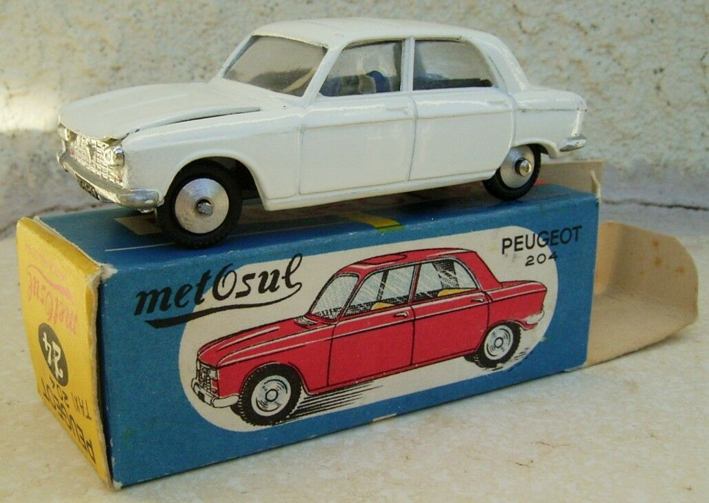 Peugeot 204 METOSUL   1.43e métal  fabrication années 60 boite d'origine