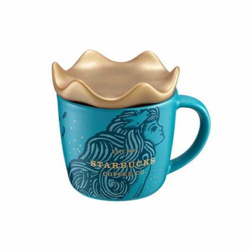 2019 Starbucks Anniversary Siren w Crown Demi Mug 3oz Singapore Taiwan Mermaid