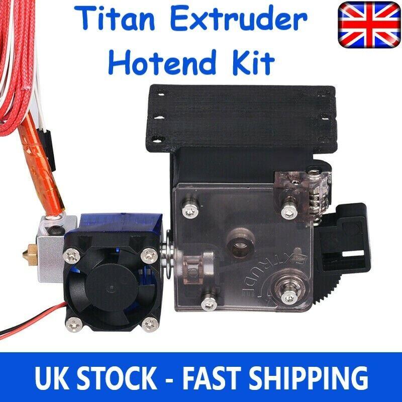 Titan Extruder + Nema17 Stepper Motor + V6 Bowden Extruder Kit E3D 3D Printer UK