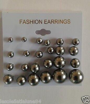 lot boucle d'oreille perle