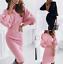 thumbnail 1 - Womens-sexy-Loose-comfy-Long-Plus-size-Dress-Ladies-Warm-Maxi-Wrap-Dresses