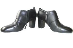 Women-039-s-Black-Closed-Toe-Side-Zipper-Cushion-3-034-High-Heels-By-Easy-Spirit-Size-7