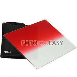 FOTGA-4-X4-034-Gradual-Graduated-Red-filter-for-Matte-box-Cokin-Z-Hitech-Holder