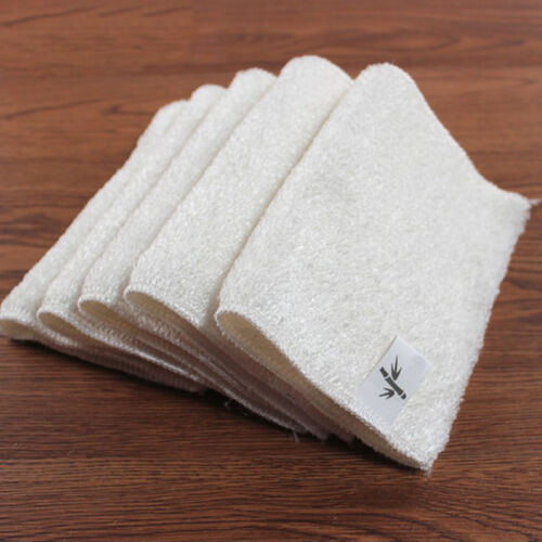 1 of 1 - Kitchen Soft Double Thickness Bamboo Fiber Dish Wash Cloth Towel Rags Dishcloths