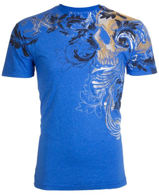 Xtreme Couture AFFLICTION Mens T-Shirt TELEPHUS Skull Tattoo Biker MMA UFC L $40