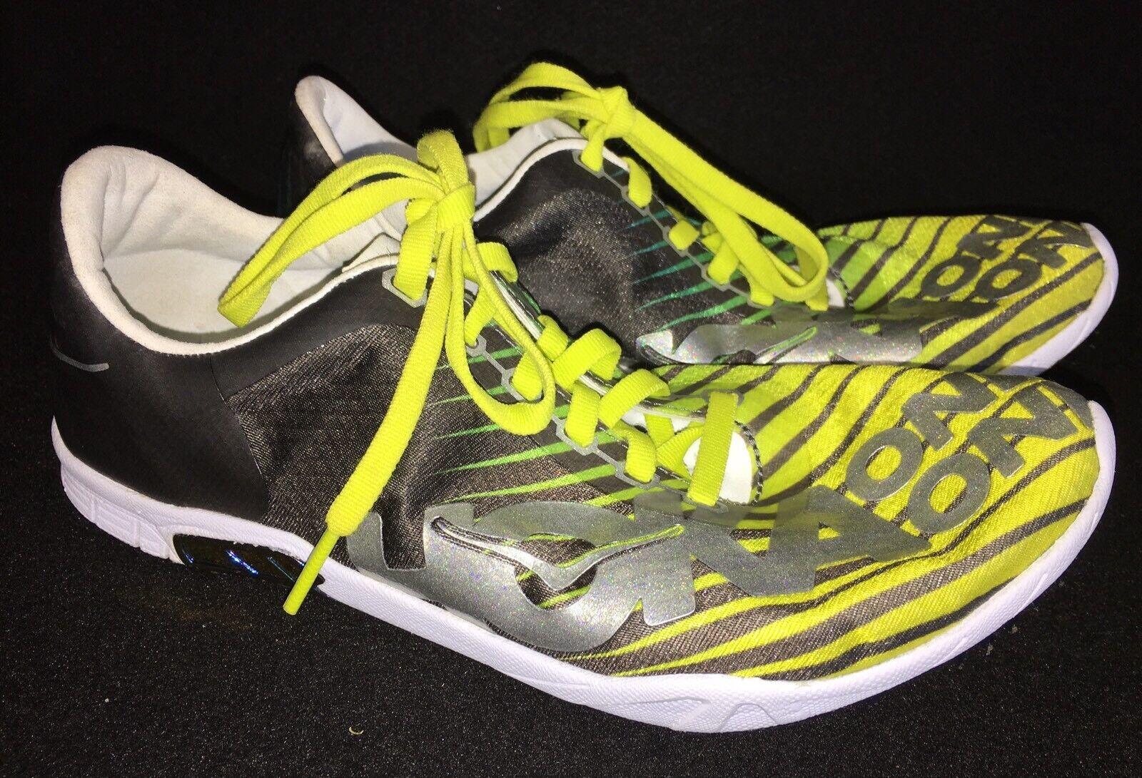 Hoka One One Speed Evo R Rio Schuhes Running Track Yellow Green Silver Grau