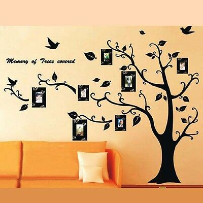 110*90cm Photo Frame Tree Removable Vinyl Quote Home Wall Sticker Mural Décor