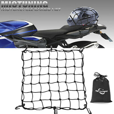 "15/"" X 15/"" CARGO NET WITH 12 HOOKS CARGO BUNGEE NET TIE DOWN CAR VAN MOTORBIKE"