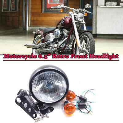 Mount For Cafe Racer Bobber GN125 Motorcycle Retro Front Headlight Black Metal