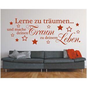 Wandtattoo-Spruch-Lerne-traeumen-Traum-Leben-Wandsticker-Wandaufkleber-Sticker