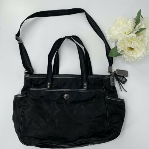 Coach Signature Collection Diaper Bag Crossbody T… - image 1