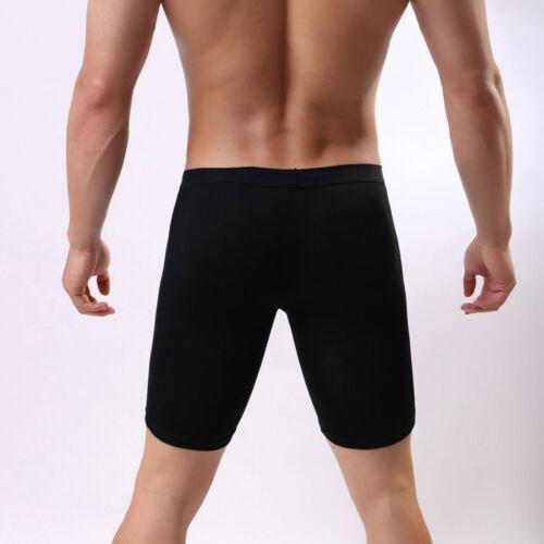 Estate Uomo Modale Boxer Slip Shorts Gamba Lunga Sport Intimo Cotone Morbido T U