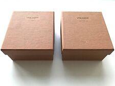 SET OF 2 AUTHENTIC 5.5 X 5 X 3 LOUIS VUITTON VINTAGE EPI EMPTY GIFT BOX FOR BELT