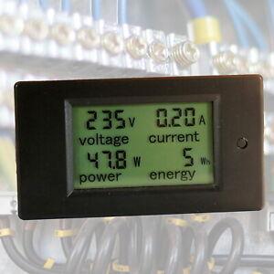 100A-AC-LCD-Panel-Digital-Power-Watt-Meter-Monitor-Voltage-KWh-Voltmeter-Ammeter